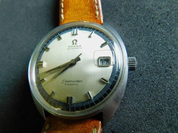 OMEGA 腕時計 シーマスター COSMIC コスミック 自動巻き 革バンド 動作確認済 Gtt1903010_画像4