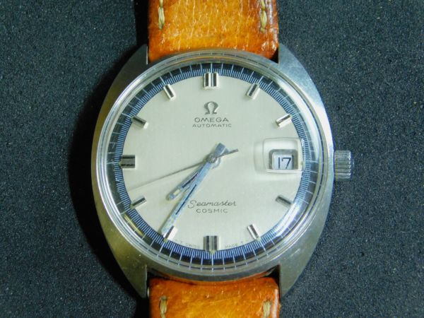 OMEGA 腕時計 シーマスター COSMIC コスミック 自動巻き 革バンド 動作確認済 Gtt1903010_画像1