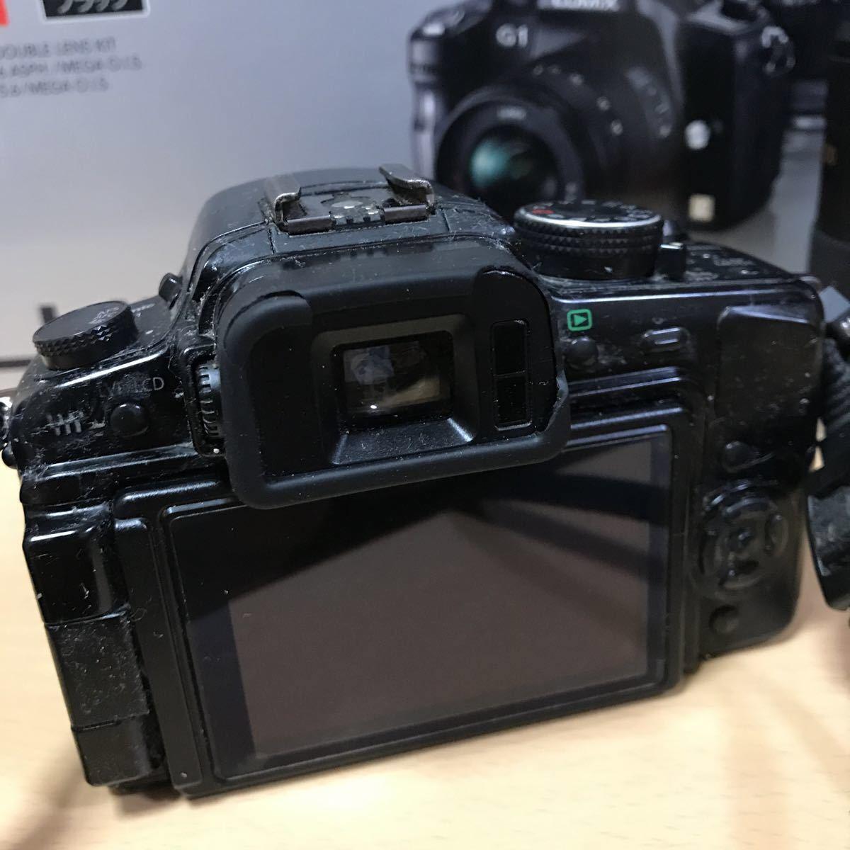 訳あり Panasonic パナソニック LUMIX G1 ダブルズームレンズキット DMC-G1W-K カメラ ミラーレス一眼 コンフォートブラック K3707718_画像2
