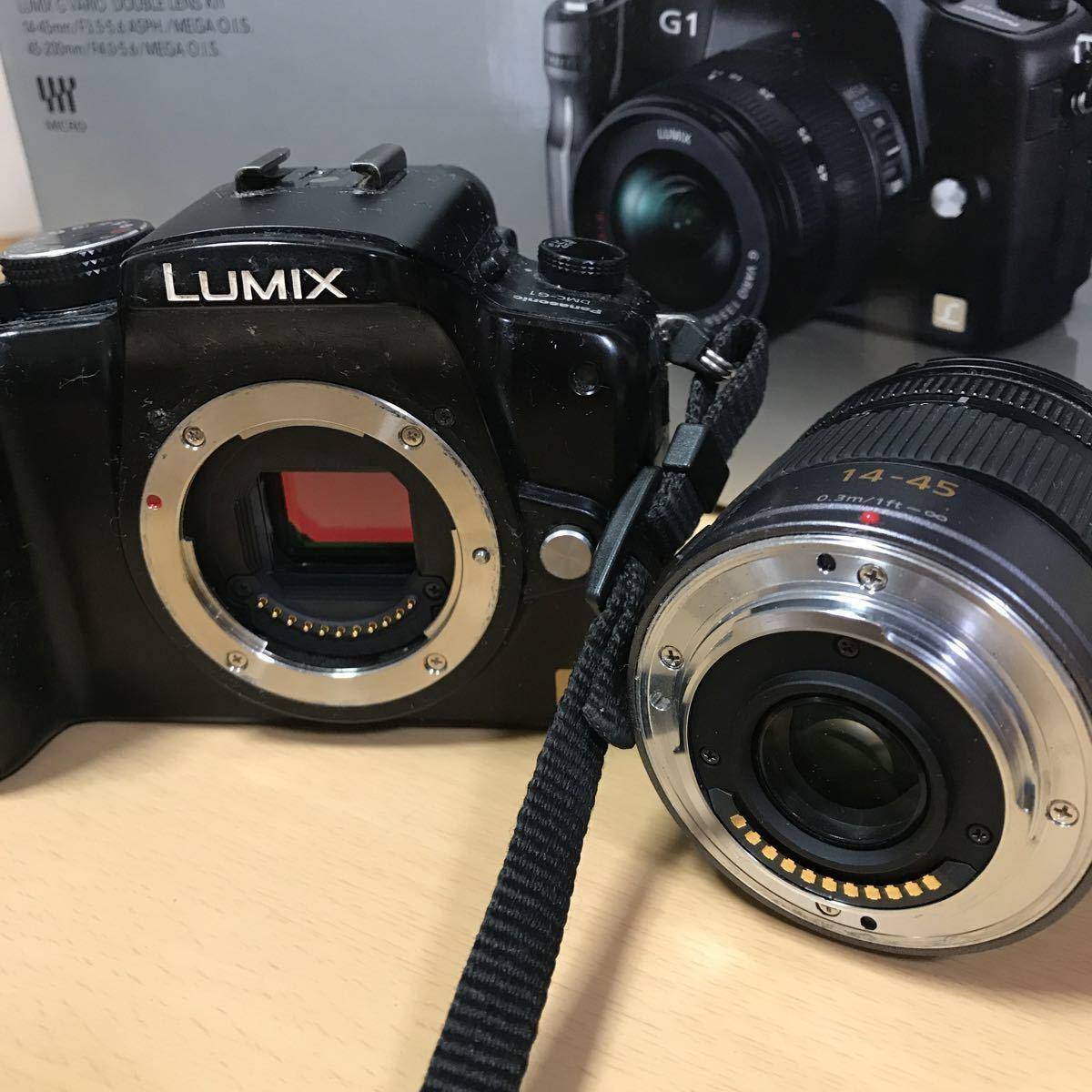 訳あり Panasonic パナソニック LUMIX G1 ダブルズームレンズキット DMC-G1W-K カメラ ミラーレス一眼 コンフォートブラック K3707718_画像10