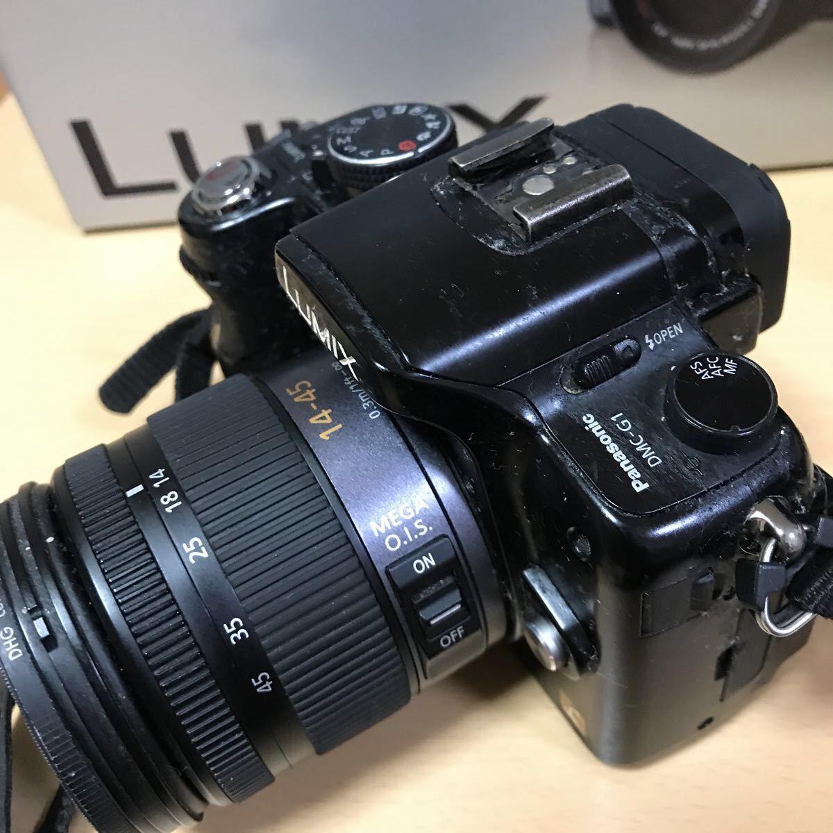 訳あり Panasonic パナソニック LUMIX G1 ダブルズームレンズキット DMC-G1W-K カメラ ミラーレス一眼 コンフォートブラック K3707718_画像5