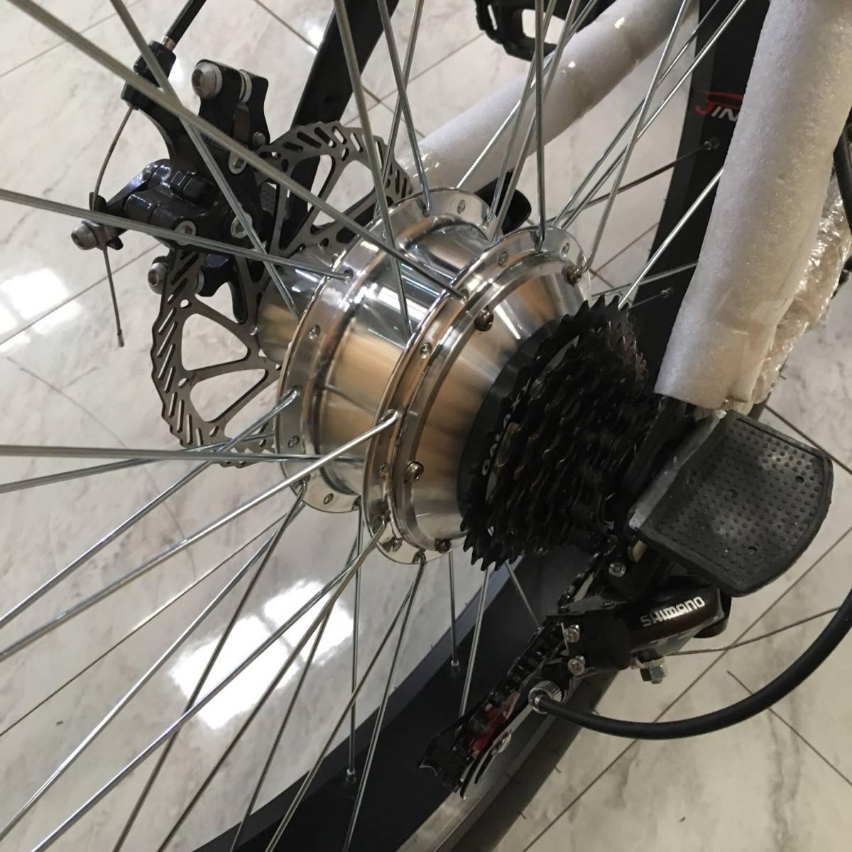 完全売り切り ラスト 一台 新品 電動 ファットバイク 電動 アシスト 自転車 ロードバイク 競輪 セグウェイ マウンテンバイク 折りたたみ_画像5