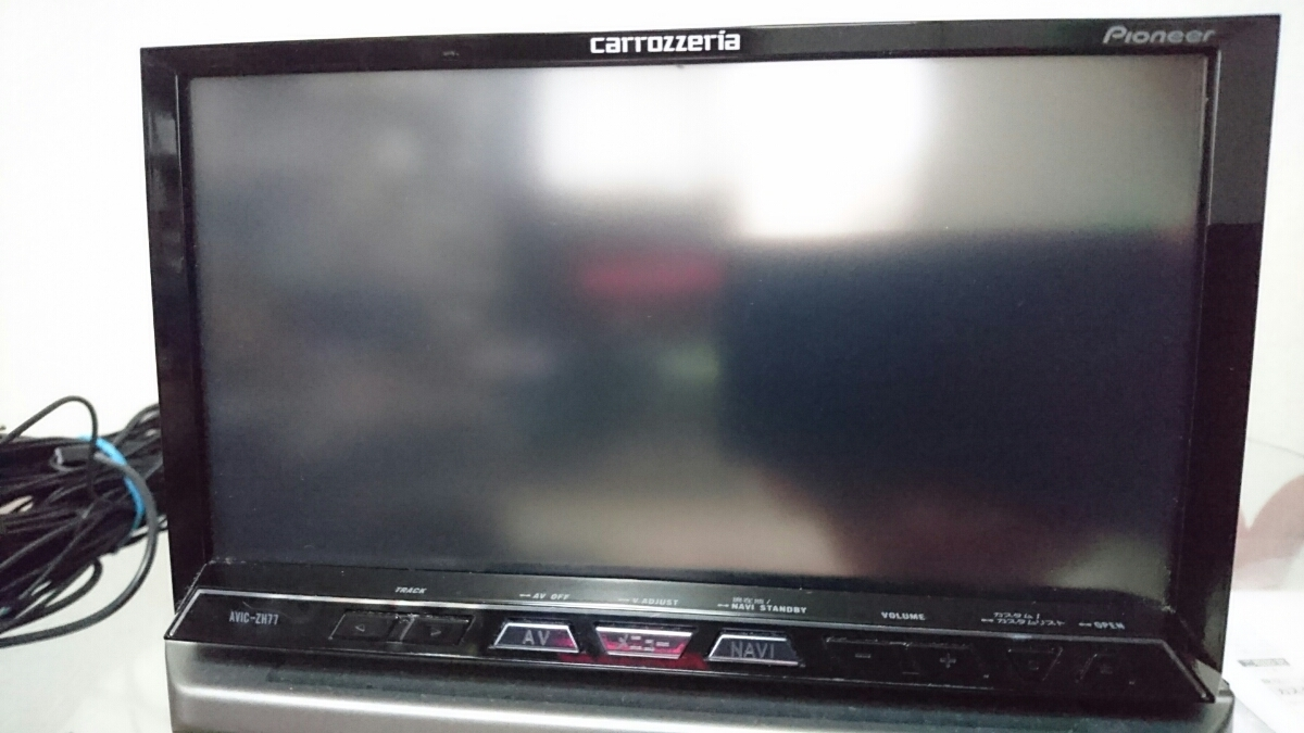 【carrozzeria】AVIC-ZH77 2012年地図 フルセグ/DVD/Bluetooth HDDナビ カロッツェリア H25年2月購入 シリアル(MAMH091697JP)_画像2