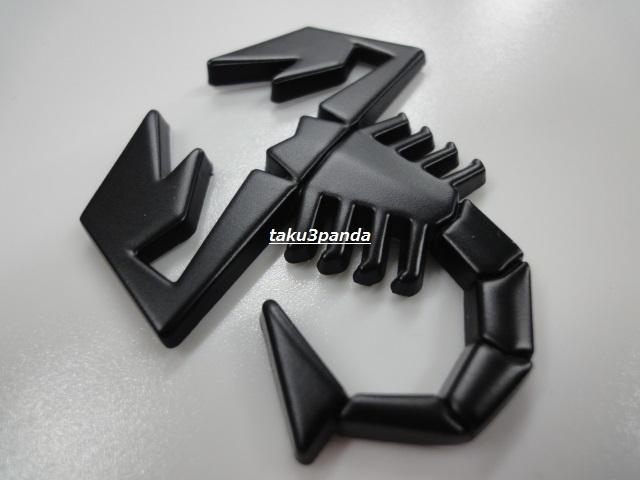 ◆ABARTH◆アバルト◆マッドブラック色◆蠍エンブレム◆フィアット500パンダ◆_画像1