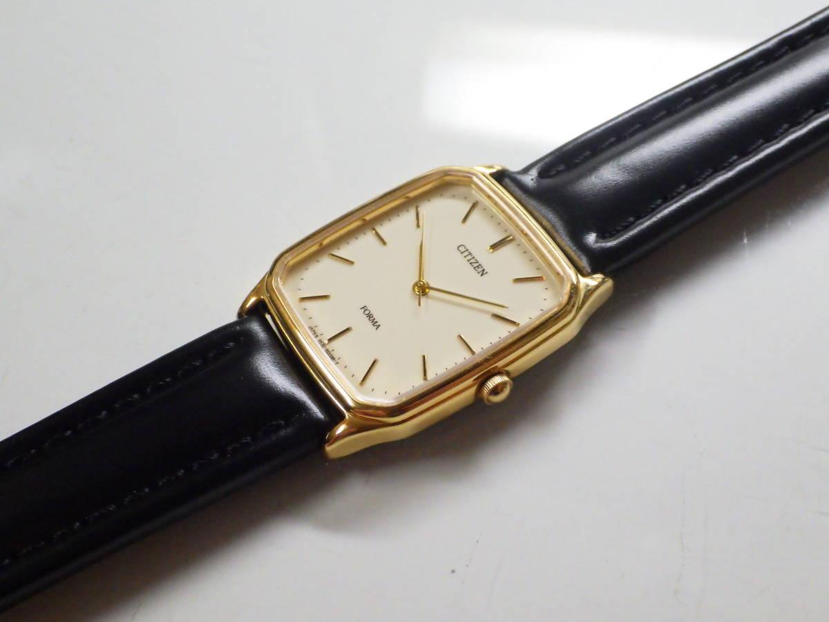 シチズン フォルマ OH済み。メンズ・男性用クォーツ腕時計。FRU59-7611。_画像5