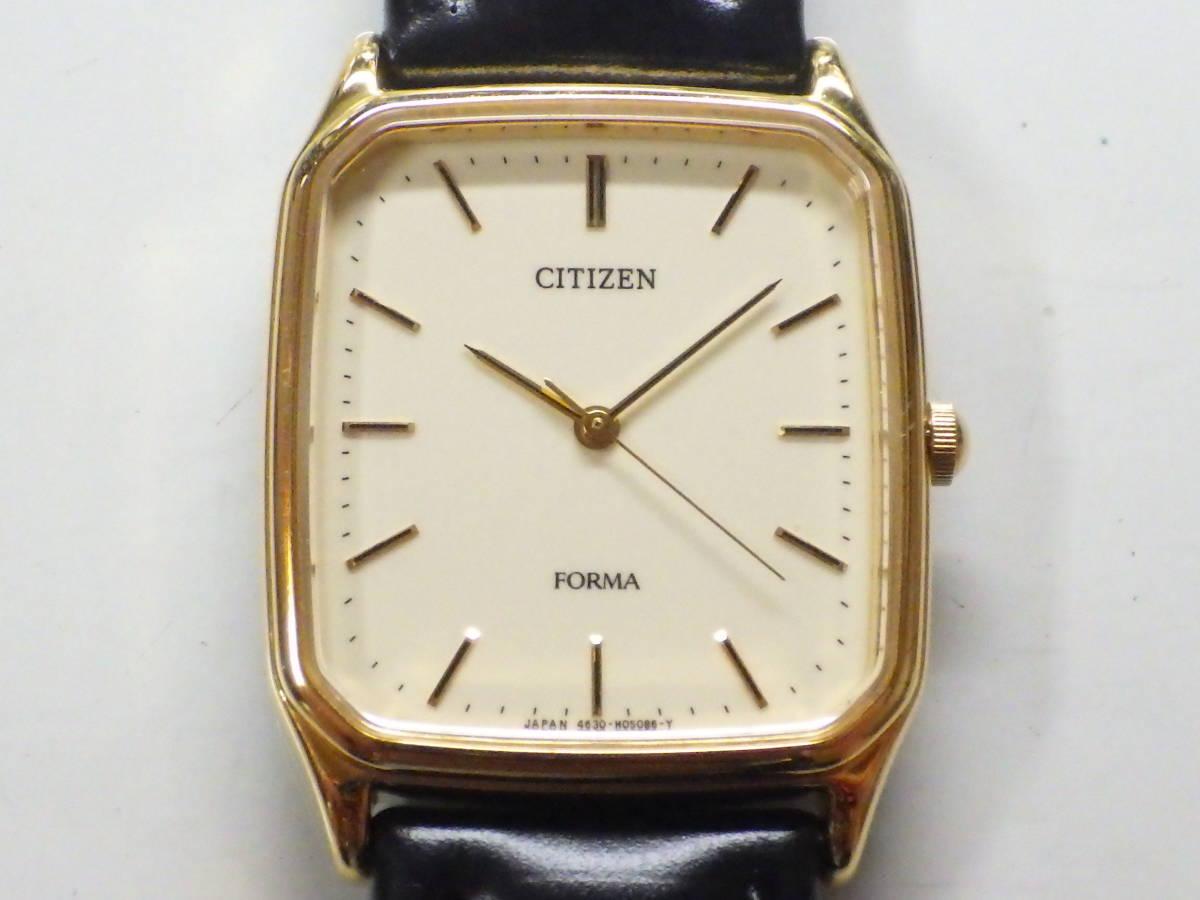 シチズン フォルマ OH済み。メンズ・男性用クォーツ腕時計。FRU59-7611。_画像2