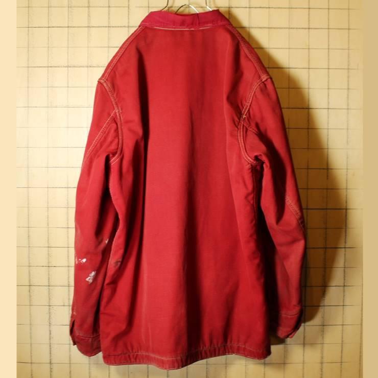 50s-60s USA製 HERCULES レッド カバーオール ワークジャケット メンズXL相当 ヘラクレス sears ブランケットライナー 古着 ハンティング_画像7