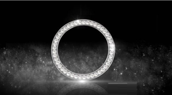 BENZ ベンツ W213 キー スタート イグニッション リング カバー AMGなど 1pc シルバー 銀 クリスタル ダイヤtype_画像2