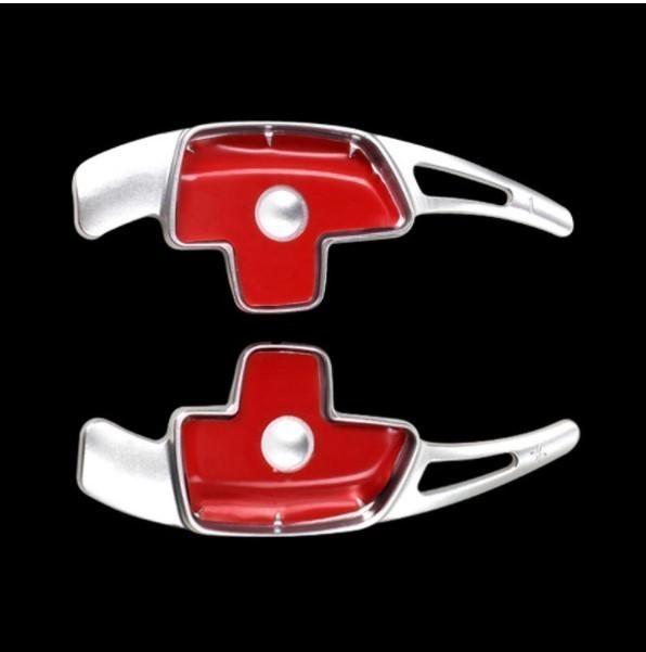 ベンツ パドル シフト レバー カバー エクステンション クイック W205 W213 GLC X253 CLS GLA ??  シルバー 2pc ★_画像1