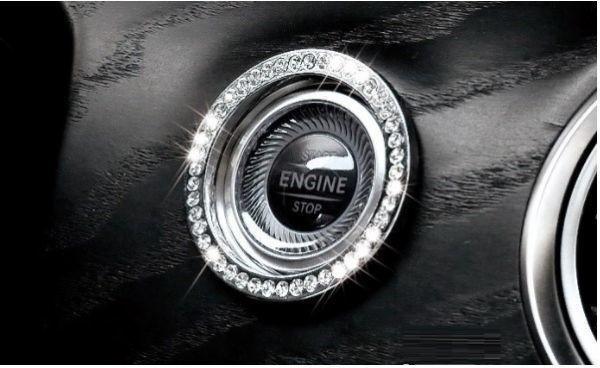 BENZ ベンツ W213 キー スタート イグニッション リング カバー AMGなど 1pc シルバー 銀 クリスタル ダイヤtype_画像1