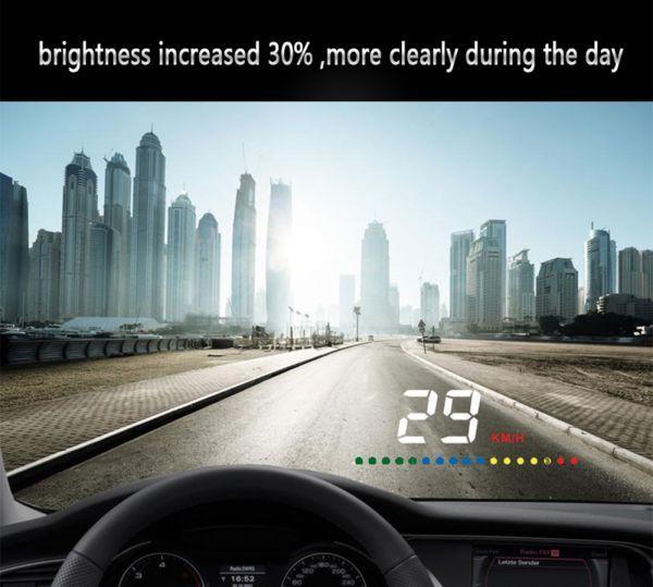 HUD 汎用 ヘッドアップ ディスプレイ スピードメーター ホンダ スズキ トヨタ 日産 純正車へ アルファード レクサス ハイエース_画像2