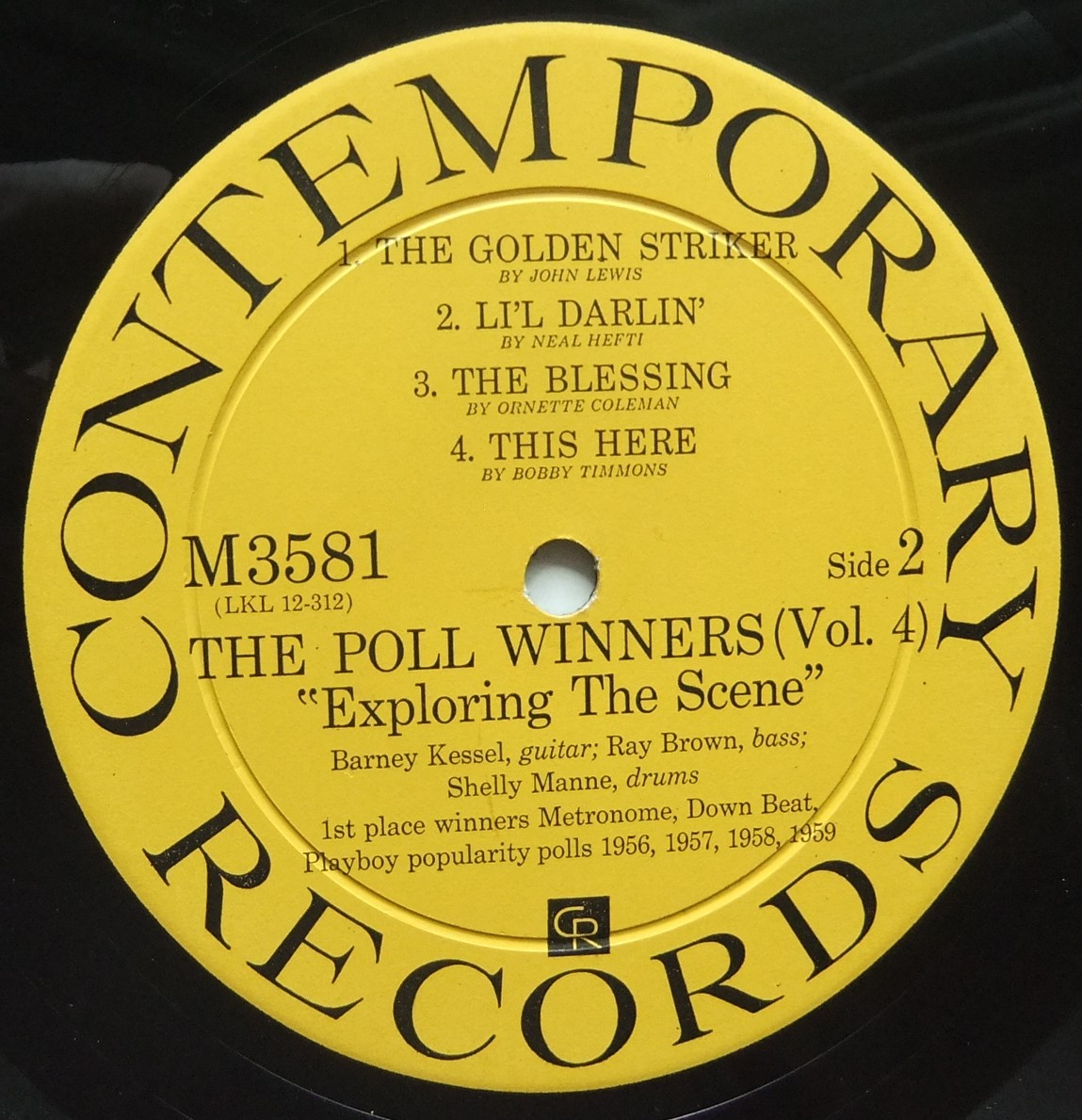 ◆ POLL WINNERS / BARNEY KESSEL, SHELLY MANNE & RAY BROWN / Exploring The Scene ◆ Contemporary M 3581 (yellow:dg) ◆ V_画像4