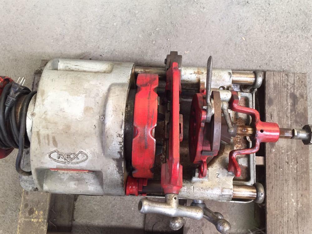 REX/レッキス ねじ切り機 パイプマシン 80ADXⅢ 80ADX3 ダイヘッド6ケ付 切削ねじ加工機 替刃 引取り可_画像7