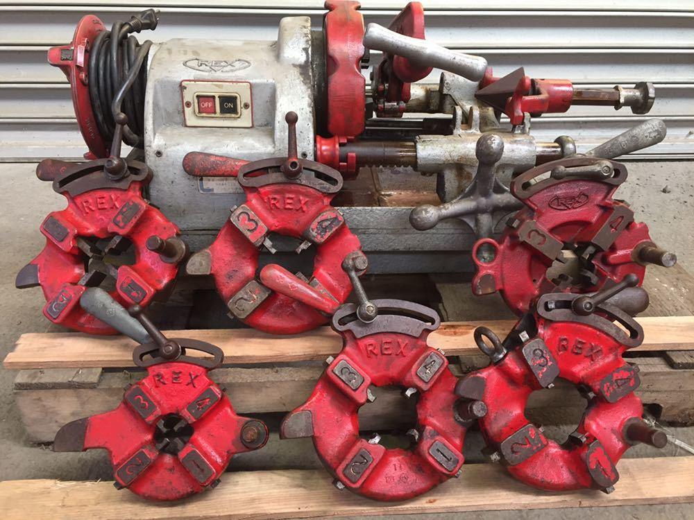 REX/レッキス ねじ切り機 パイプマシン 80ADXⅢ 80ADX3 ダイヘッド6ケ付 切削ねじ加工機 替刃 引取り可