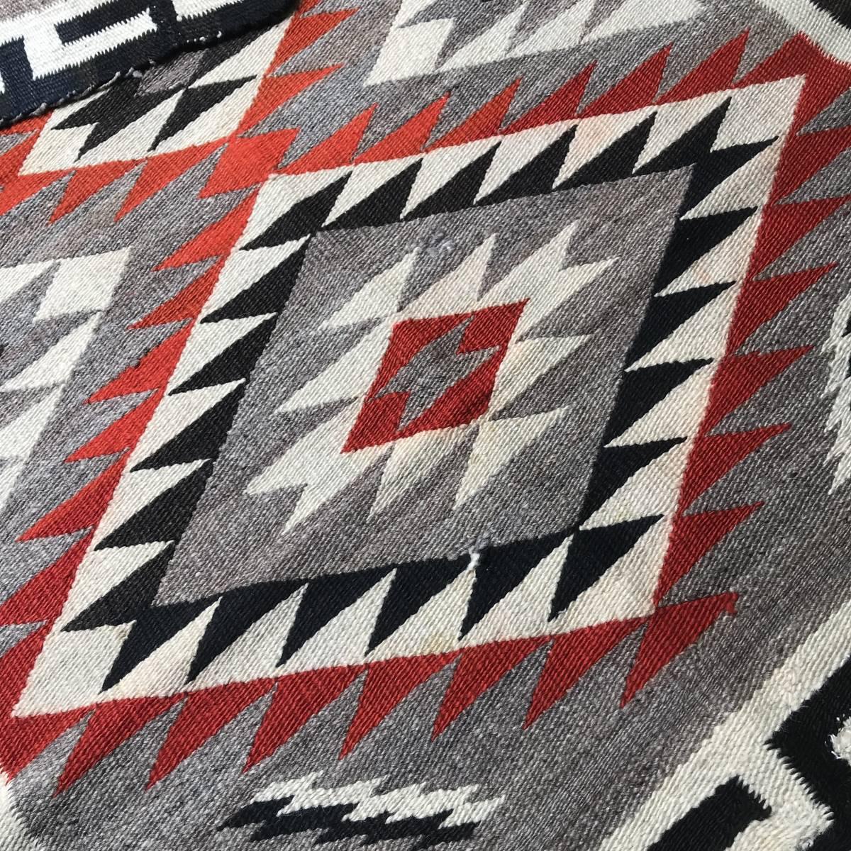 実物!Navajo Rug ナバホラグ40's~ビンテージネイティブアメリカン/50'sアリゾナプエブロ卍実物チマヨオリジナル_画像6