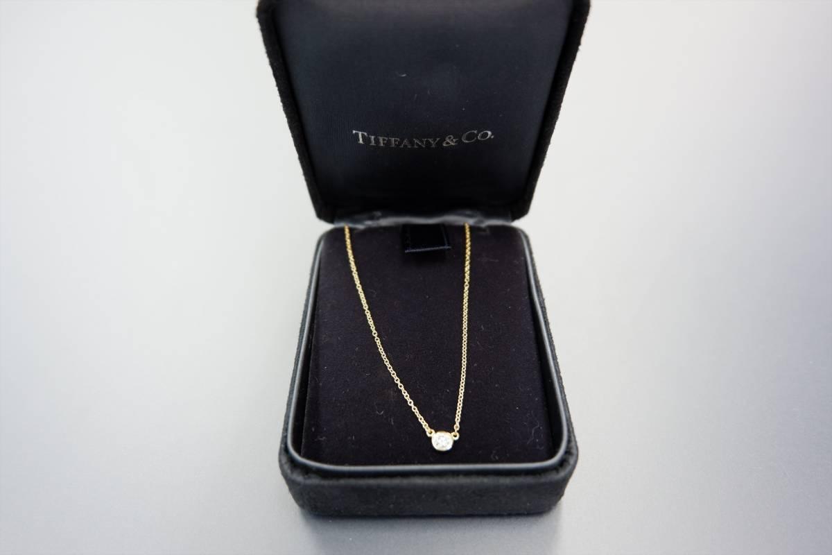 美品 ティファニー K18 ダイヤネックレス エルサ ペレッティ ダイヤモンド バイザヤード ペンダント 18金 TIFFANY&CO_画像5