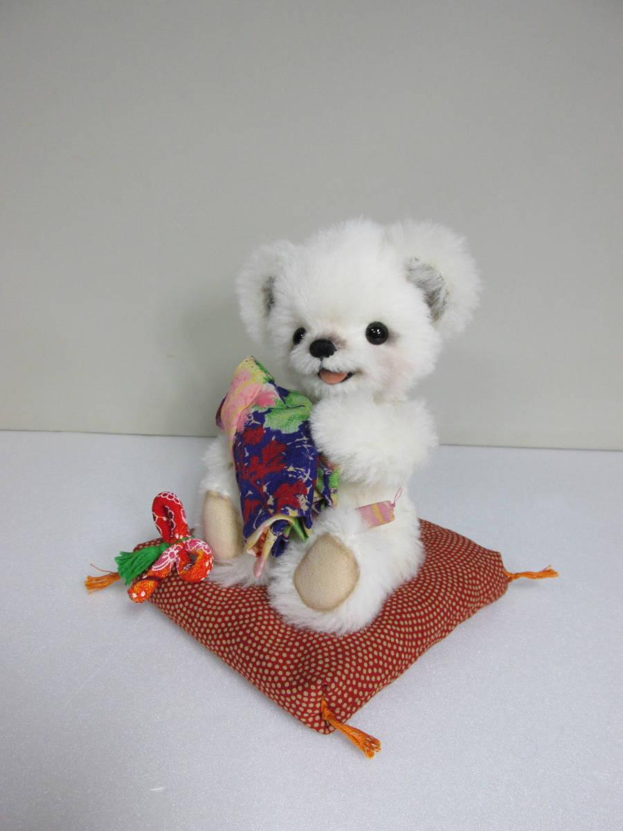 ♪ Mamu Bear 手触りホワホワ ホワイトベア ♪  ゆうぱっく 送料無料 ハンドメイド_画像4