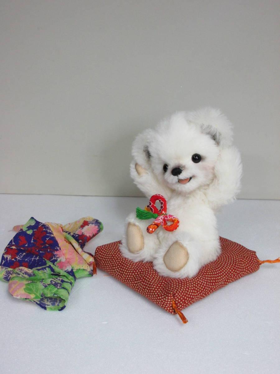 ♪ Mamu Bear 手触りホワホワ ホワイトベア ♪  ゆうぱっく 送料無料 ハンドメイド_画像5