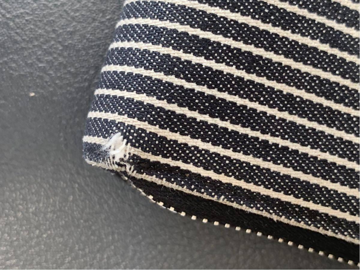 CHANEL 財布 ストライプ デニム地_画像7