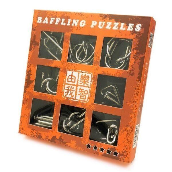 超上級者向け 知恵の輪9点セット レベル5 メタル製 脳トレーニング 知育玩具 高齢者のボケ防止 大人子供 パズルリングセット LP-EPPLV05_画像4