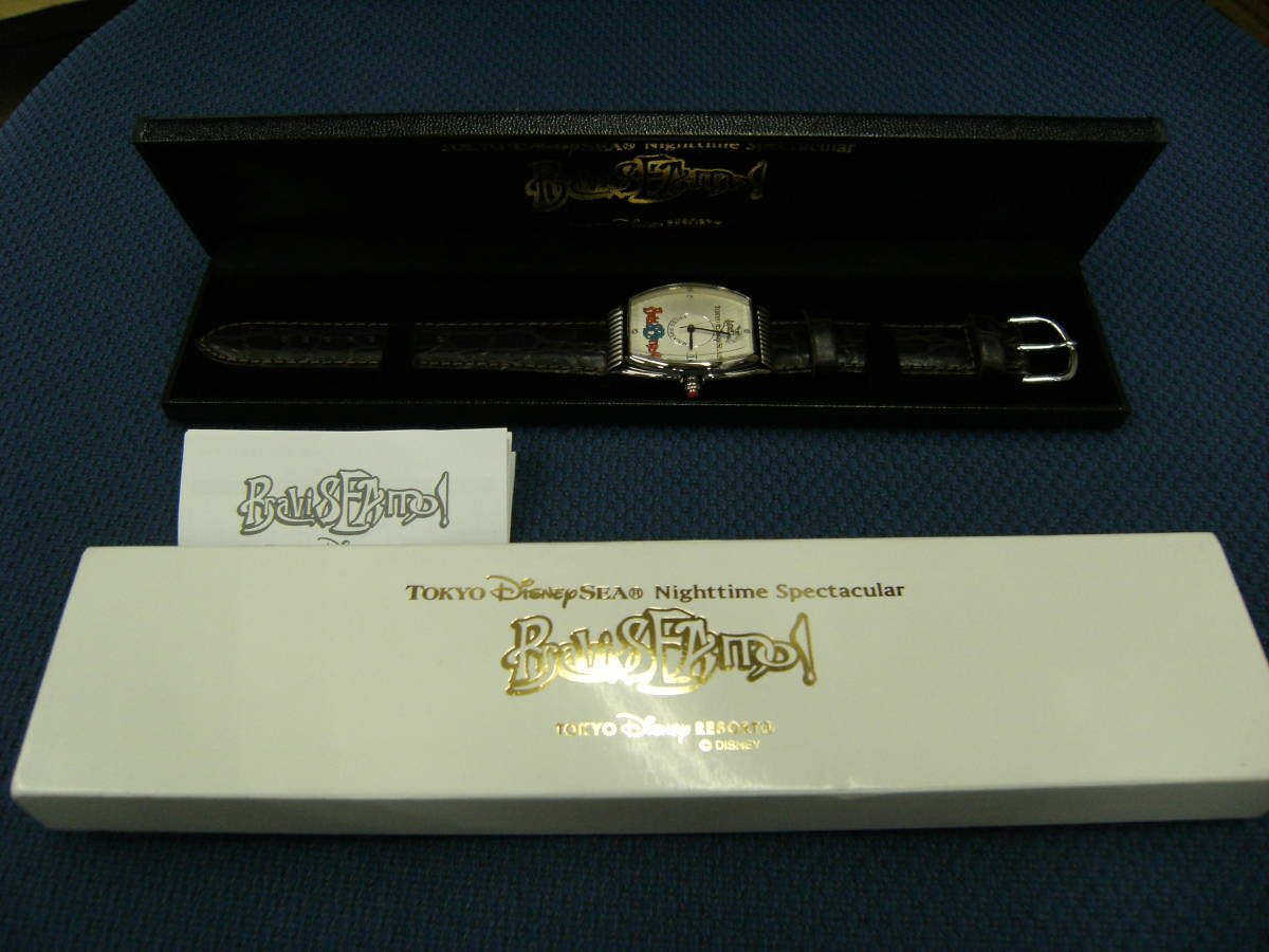 値下げしました! 〈非売品・未使用〉ディズニーシー 「ブラヴィッシーモ」腕時計_画像1