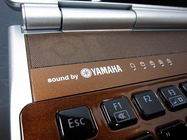 YAMAHAスピーカー搭載。高音質です。