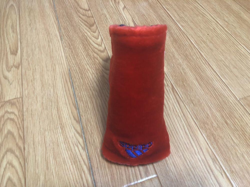 [新品] adidas golf パター ヘッドカバー ボアニット アディダス ゴルフ マジックテープ 赤_画像2