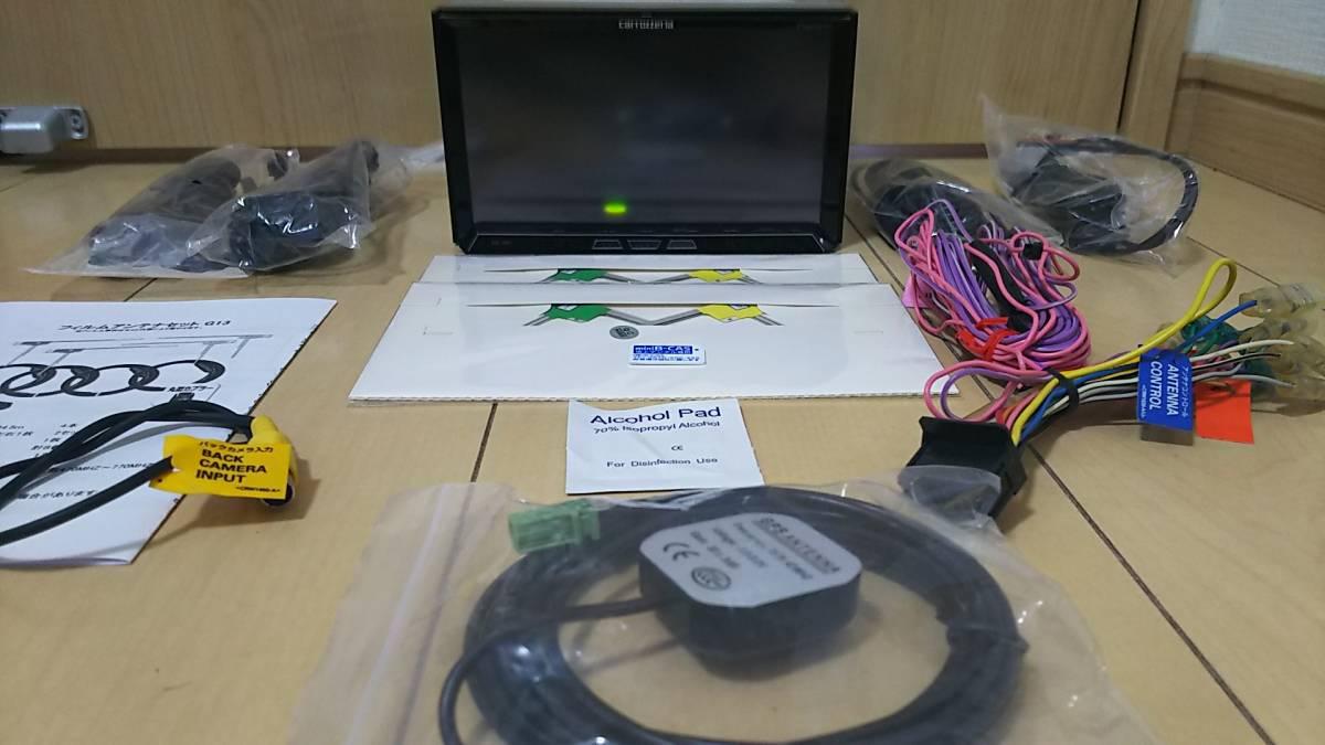 HDDサイバーナビZH07・2013年版・VGA・地デジ一式新品付属☆4×4フルセグ内臓・18倍速録音再生・DVD・USB・オービス入り・動作保証☆