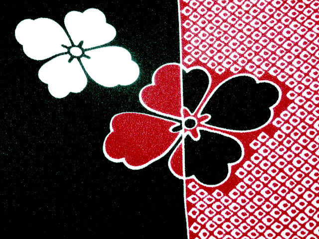 《SAI569》 「化繊」◇洗える小紋◇単衣/コウヤ/鹿の子柄に花菱紋☆良品☆ _画像4