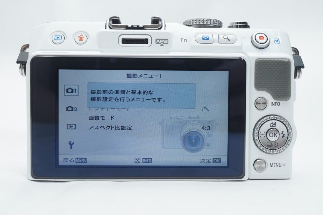 ★極上品★ OLYMPUS E-PL3 ボディ オリンパス PEN ミラーレスカメラ ホワイト マイクロフォーサーズ_画像4
