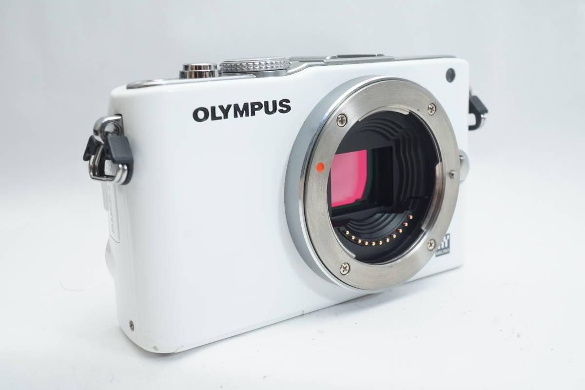 ★極上品★ OLYMPUS E-PL3 ボディ オリンパス PEN ミラーレスカメラ ホワイト マイクロフォーサーズ_画像7