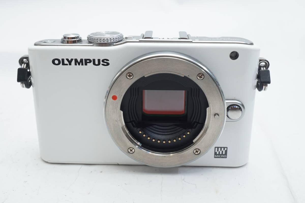 ★極上品★ OLYMPUS E-PL3 ボディ オリンパス PEN ミラーレスカメラ ホワイト マイクロフォーサーズ_画像2