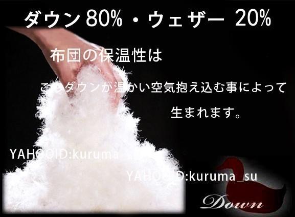 掛け布団 羽毛布団 新品 未使用 ダウン80%フェザー20% シングル ☆S☆約3.0KG 青 花柄_画像10