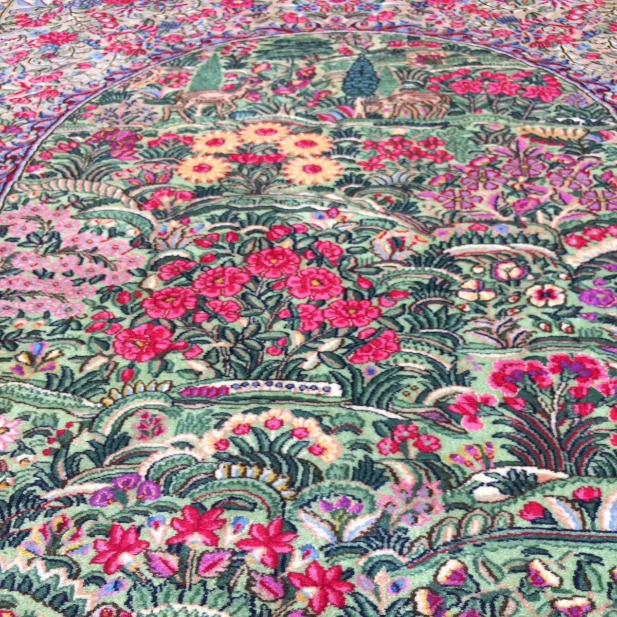ペルシャ絨毯 ケルマン イラン 150×230cm MUSEO ウール100%_画像8