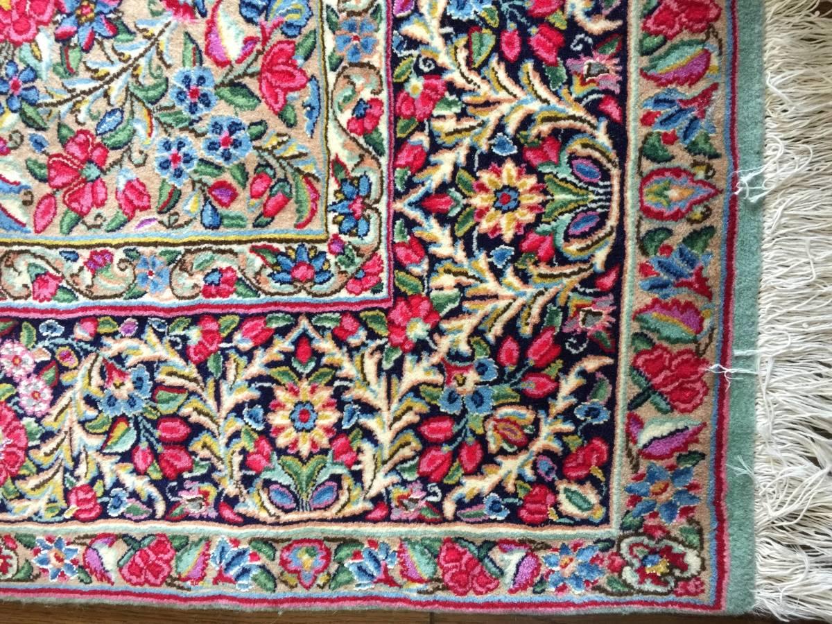 ペルシャ絨毯 ケルマン イラン 150×230cm MUSEO ウール100%_画像4