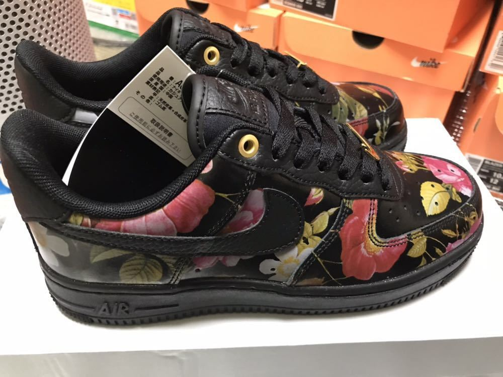 the best attitude aab90 f6141 23.5cm WMNS Nike Air Force 1  07 LXX Black Floral US6.5 AO1017