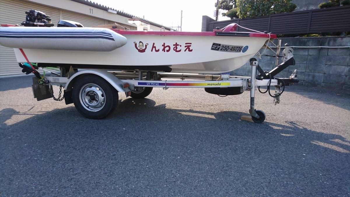 リトルボート フェニックス ・シープロ15ps・ モナドアルミトレーラーセット_画像4