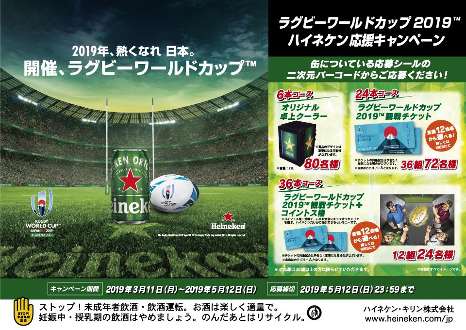 ハイネケン ラグビーワールドカップ2019 応援キャンペーン 応募シール36枚 ①_画像2
