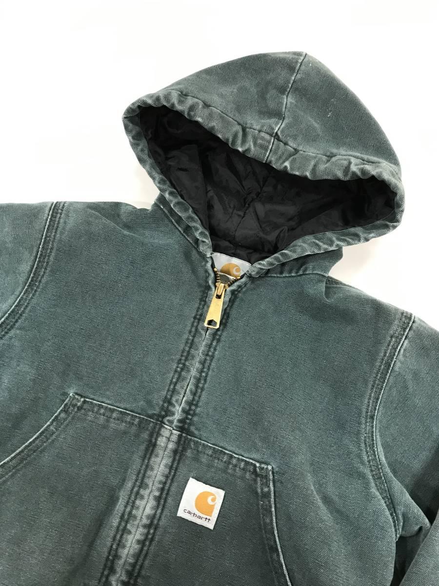 古着 15224 カーハート carhartt boy's SMALL ヘビー コットン ジャケット ワーク ダック USA オリジナル ビンテージ vintage_画像2