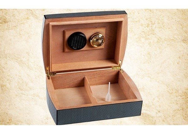 高品質 木製 ポータブルヒュミドール 葉巻 たばこ ラグジュアリー シンプル コンパクト クラシック 湿度計 蓋裏加湿器 ウッド 木製_画像2