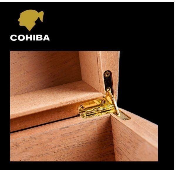 高品質 木製 ポータブルヒュミドール 葉巻 たばこ ラグジュアリー シンプル コンパクト クラシック 湿度計 蓋裏加湿器 ウッド 木製_画像4