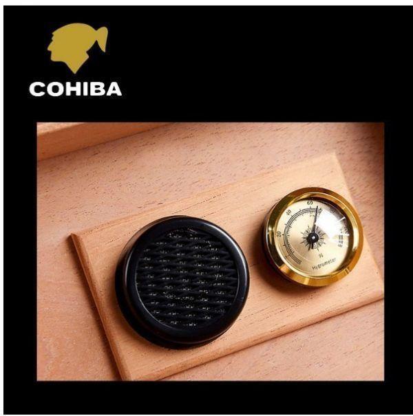高品質 木製 ポータブルヒュミドール 葉巻 たばこ ラグジュアリー シンプル コンパクト クラシック 湿度計 蓋裏加湿器 ウッド 木製_画像5