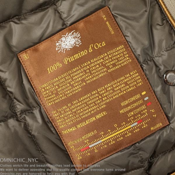 ■新品54万【MOORER】ムーレー極上ロロピアーナカシミア100%紳士の頂点!SIVIGLIA-CS/2WAY撥水レイヤードダウンチェスターコート52/C937_画像9