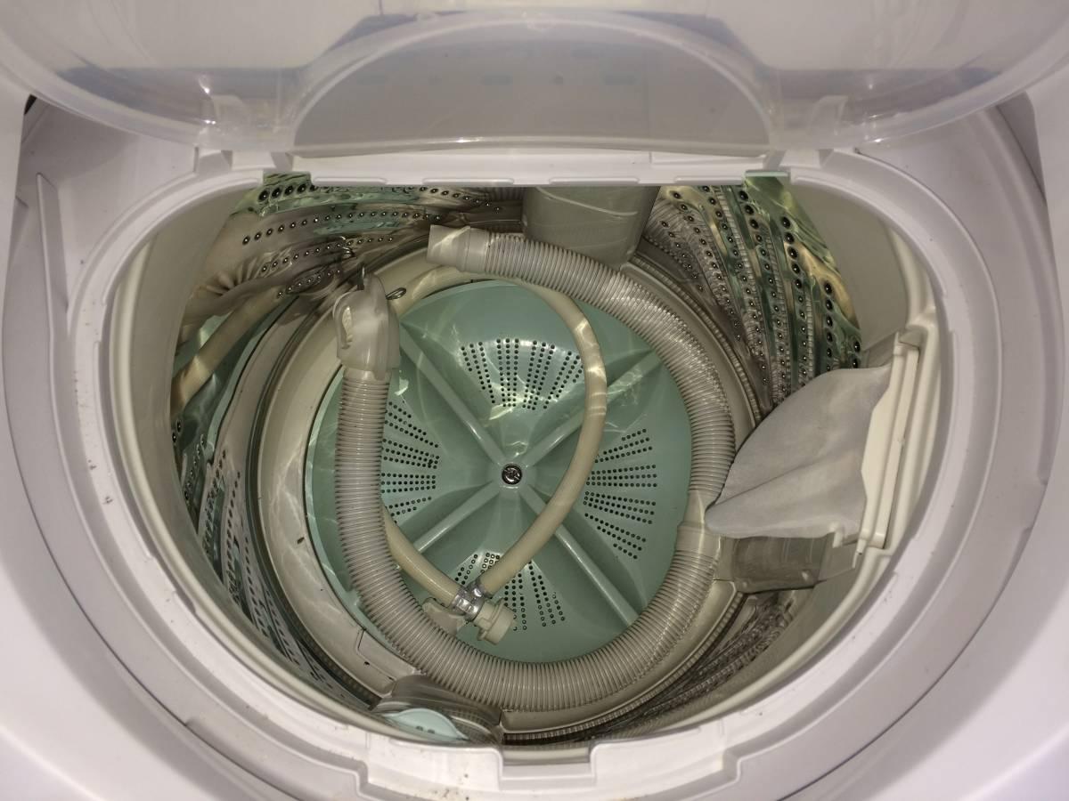【送料無料】Panasonic パナソニック 全自動洗濯機 NA-FS50H1 ホワイト 09年製 5.0㎏ 中古品_画像6
