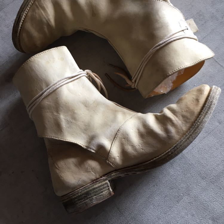 AUGUSTA Horse Leather White Boots 6, a1923, a diciannoveventitre, オーガスタ ブーツ レザー_画像2