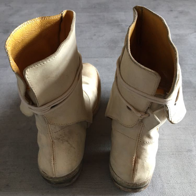 AUGUSTA Horse Leather White Boots 6, a1923, a diciannoveventitre, オーガスタ ブーツ レザー_画像7
