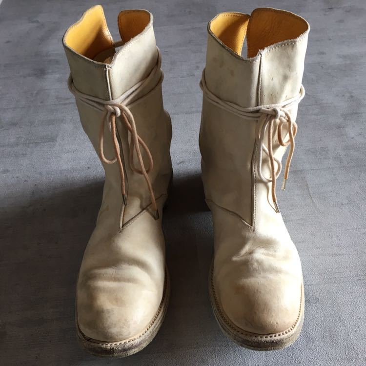AUGUSTA Horse Leather White Boots 6, a1923, a diciannoveventitre, オーガスタ ブーツ レザー_画像5