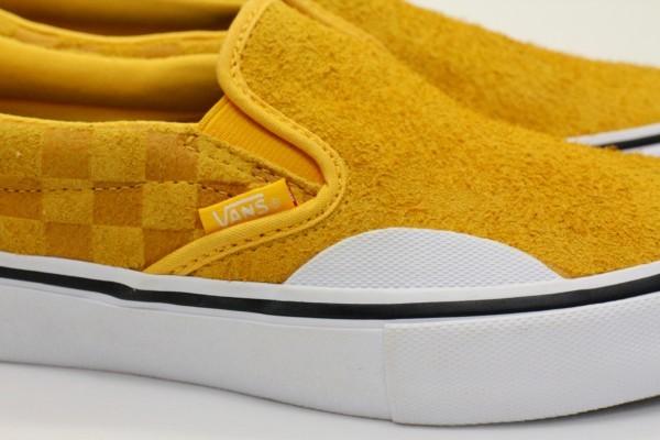 【USA購入 正規新品】VANSバンズ 27.0cm スリッポン プロ SLIP-ON PRO ヘアリーバナナイエロー チェッカー ビンテージ 靴シューズ☆9a28_画像5