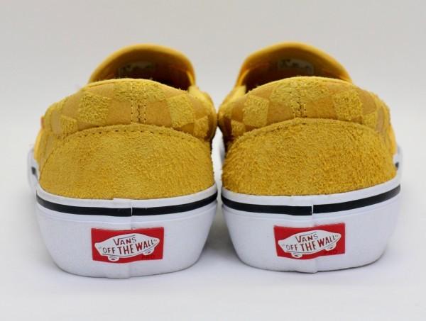 【USA購入 正規新品】VANSバンズ 27.0cm スリッポン プロ SLIP-ON PRO ヘアリーバナナイエロー チェッカー ビンテージ 靴シューズ☆9a28_画像3