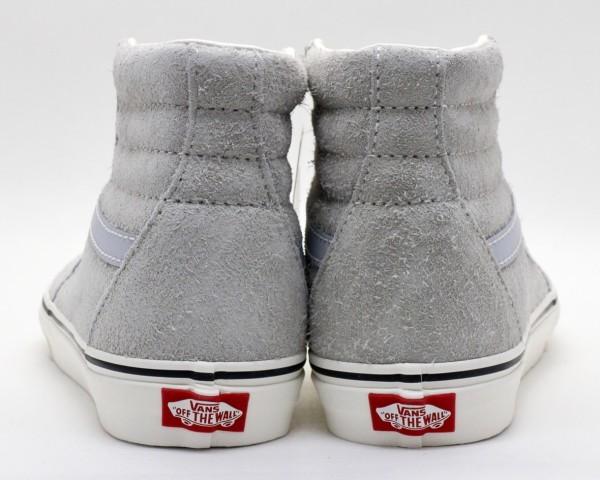 【USA購入 正規新品】VANSバンズ 27.0cm スケートハイ SK8-HI ヘアリースエード革レザーグレー ビンテージ 靴シューズ☆9a44_画像3
